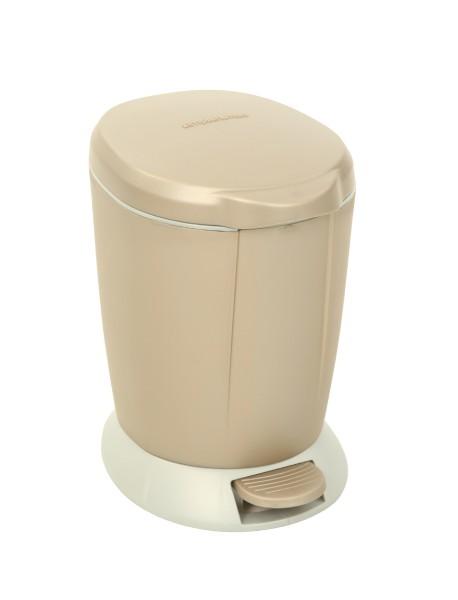 Simplehuman Afvalemmer Rond Step 6 liter (Bruin)