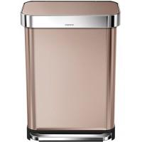 simplehuman-afvalemmer-incabinet-55-liter-roze-goud - SH 018577