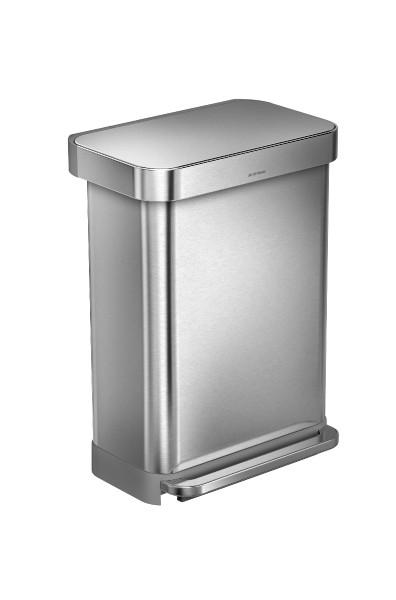 Simplehuman Afvalemmer Liner Pocket 55 liter (zilver)