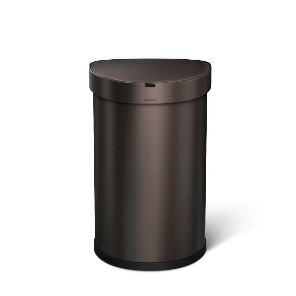 Simplehuman Afvalemmer Liner Pocket Half Rond Sensor 45 liter (brons)