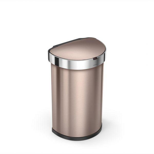 Simplehuman Afvalemmer Liner Pocket Half Rond Sensor 45 liter (roze goud)