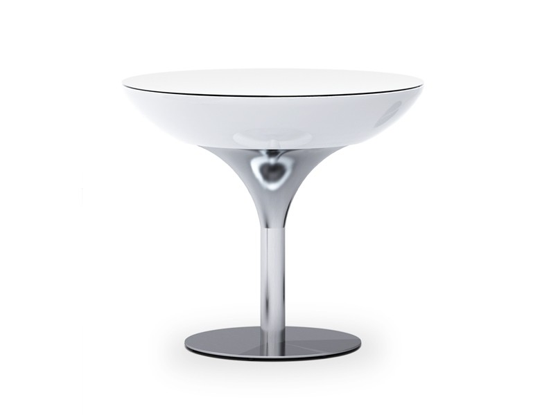 Moree Lounge Table 75 Wit Verlicht