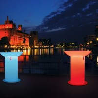 Moree Lounge Up LED Pro Accu - verlichte statafel
