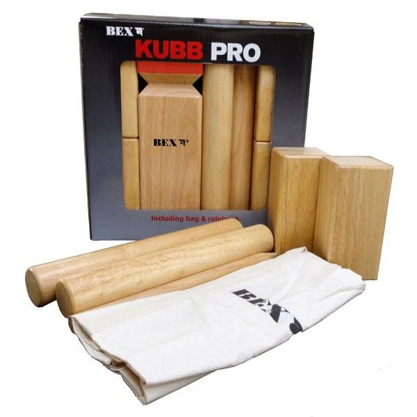 Kubb Pro Rubberhout (Red King)