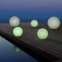 Vondom Vases Lampara Bola RGB LED Verlicht