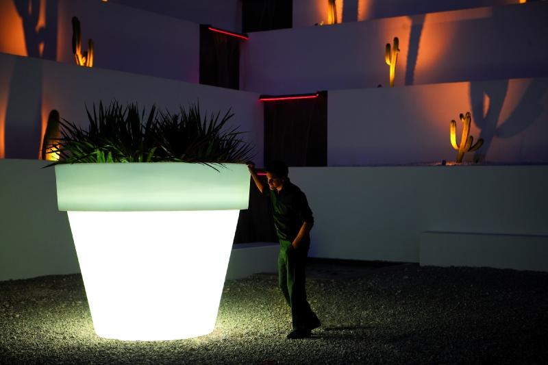boompot xl roma 130 wit verlicht