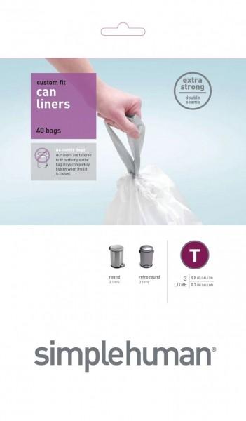 Afvalzakken 3 liter (T), Simplehuman