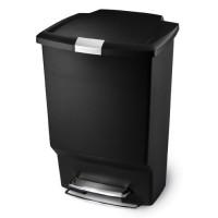 rectangular-kunststof-45-liter-rvs-accent-zwart - SH015286