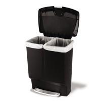 rectangular-kunststof-60-liter-recycler-gft-zwart - SH013879