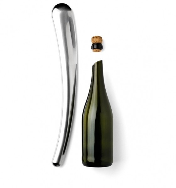 Menu wijn-champagne sabel gepolijst rvs