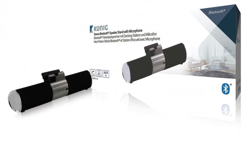 König Csbtsphf110 Houder met Stereo Draagbare Bluetooth Luidspreker en Microfoon